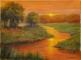 Becky Rogers Sunset on the Cimarron 12x16 web