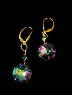 Cynthia Bloom Earrings OctagonLtVitrail 120 web