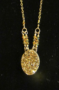 Cynthia Bloom Pendant SmallGoldNGDruzy 150 web