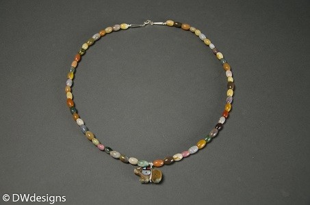 David Warren Necklace mixed jasper with zuni sunface 1