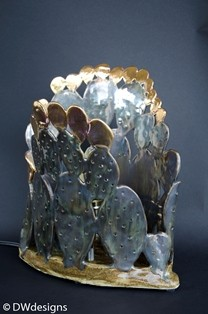 David warren Texas Black Gold Cactus lamp2 1