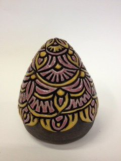 Jane Cox black yellow pink egg with lid 35 web