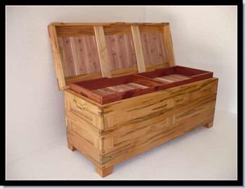 Randy Secrest ambrosia cherry blanket chest web
