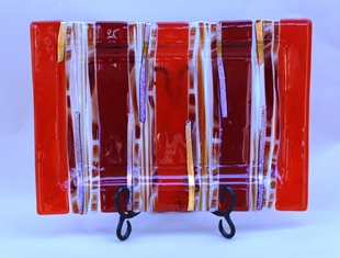 Ron Griffin red glass tray.JPG