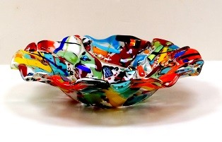 Ron and Elaine Griffin 11in Multi color Bowl web