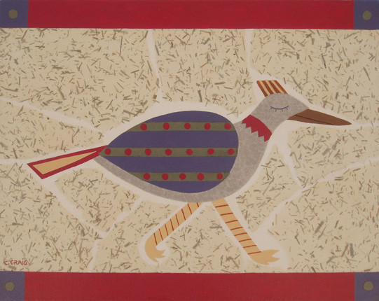 SOLD Roadrunner on Bamboo IV 11x14 475