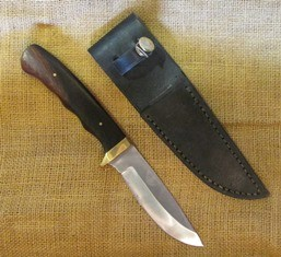 Tex Irvin Knife Desert Iron Wood 90 web