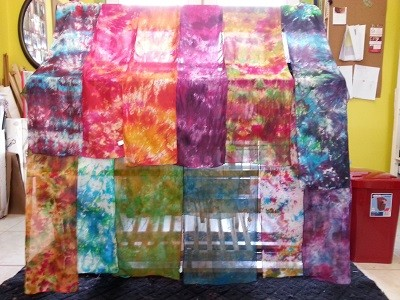 Toni Marshall Dyed Silk Scarves