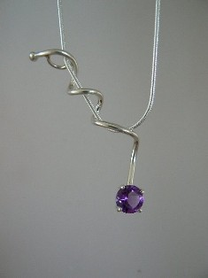 jo ebersol silver gemstone necklace P319N 110 web